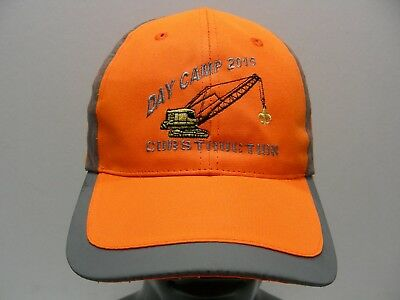 Boy Scouts - Day Camp 2015 - Cubstruction - Adult Size Adjustable Ball Cap Hat!
