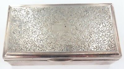 .Antique 950 Silver Cigarette Box. 237 Grams.
