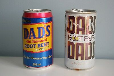 Dads Root Beer Cans Lot of 2 Old cans collectables