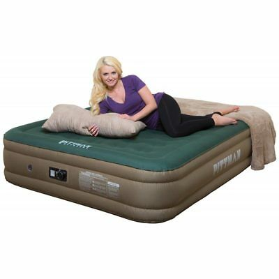Pittman Queen Fabric Ultimate 16 Air Mattress Built in Rechargeable PPICAMPX16