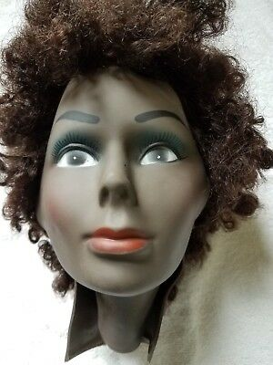 Vintage PIVOT POINT Mannequin Head Shell for Display FEMALE African American