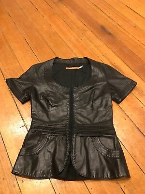 Women's THURLEY Leather Top Size 8 RRP $690. Barely Worn.
