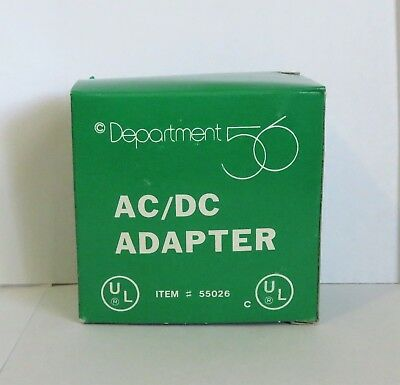 Dept 56 AC/DC Adapter #55026 White NEW IN BOX (Y73)