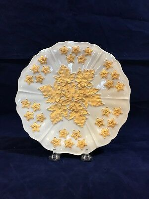 Rare ANTIQUE MEISSEN HEAVILY GILTED PLATE - CROSSED SWORDS 24K gold gilt
