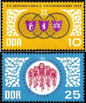 DDR 1278-1279 (complete.issue) unmounted mint / never hinged 1967 Radfernfahrt