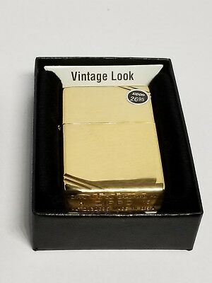 Zippo Windproof Vintage High Polished Brass Lighter,  270, New In Box