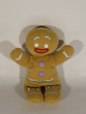 2008 Ty Beanie Babies Shrek Gingy The Gingerbread Man Plush 8""