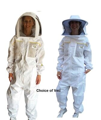 Oz Armour Beekeeping Suit Semi Ventilated Poly Cotton & Three Layer Mesh