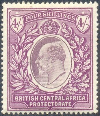 British Central Africa 1903/4, 4 Shillings Stamp, Edward VII, SG 64, SC 66, LH