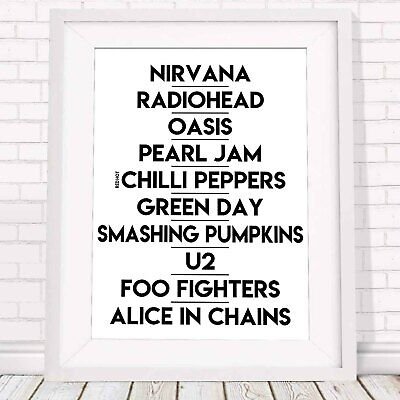 Music Poster Picture Print Sizes A5 to A0 **FREE DELIVERY** BANDS OF THE 90/'s