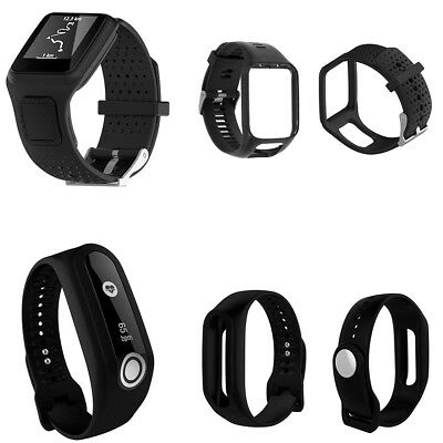 Replacement Black Silicone Strap Band For TomTom Runner 2 3 Spark 3 GPS Watch AU