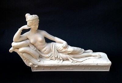 Marble Sculpture of Paulina Borghese, Classical sculpture, Art, Gift, Ornament.