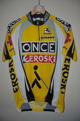 Retro Once Eroski Wurth Giant Giordana Yellow Cycling Jersey Mens Xl-5-52 f252965a7
