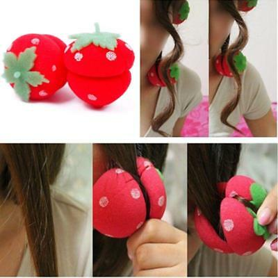 Strawberry Balls Hair Care Soft Sponge Rollers Curlers DIY Durable Tool