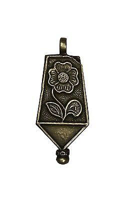 Antique Vintage Ethnic Silver Flower Design Handmade Necklace Pendant Jewelry