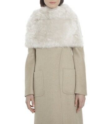 Max Mara Natural Fur Tippet S/m New Collection!
