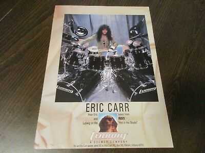Ludwig Drums - Eric Carr - Kiss 1991 Magazine Print Ad