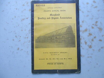 4th Annual Maryland Poultry & Pigeon Association Show, Baltimore 1912 Program