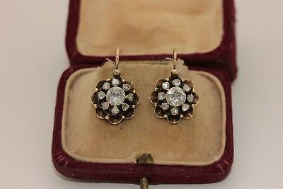 Antique Original Perfect Ottoman Diamond Decorated Amazing Earring