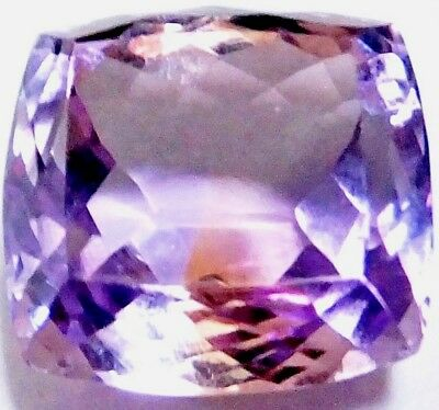 NATURAL CUSHION-CUT AMETRINE GEMSTONE LOOSE 12.7 x 12 mm - 10Ct. LOVELY AMETRINE
