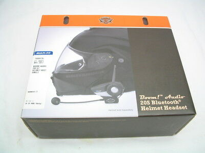 Boom! Audio 20S Bluetooth Helmet Headset 76000736 Harley Wireless