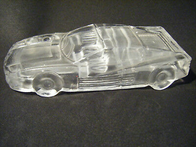 Vintage Glass / Crystal Car Paperweight Frosted Interior