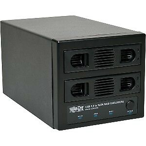 New Tripp Lite Usb 3.0 Superspeed 2 Bay Sata Hard Drive Raid Enclosure W Fan: U3