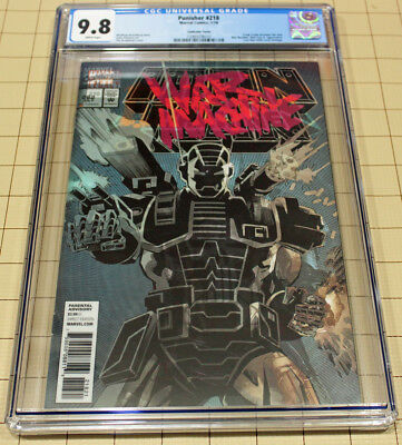 Punisher #218 Lenticular Cover Cgc 9.8 Iron Man #282 Cover Homage  !!