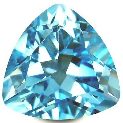 NATURAL TRILLION-CUT BLUE TOPAZ GEMSTONE LOOSE 11 x 11 mm. BEAUTIFUL COLOUR