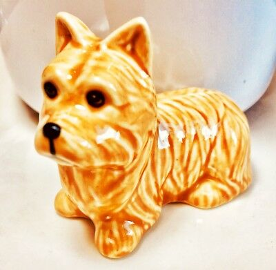 Norwich Terrier Dog Figurine Pet Animal Ceramic Craft Handmade Gifts Collectible