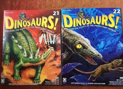 DINOSAURS MAGAZINE - ORBIS  - Play and Learn - Issue 21 & 22
