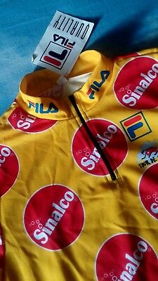 T-SHIRT bike 90's FILA (Tour de Suisse)  SINALCO TG.L made in Italy  NEW !  RARE