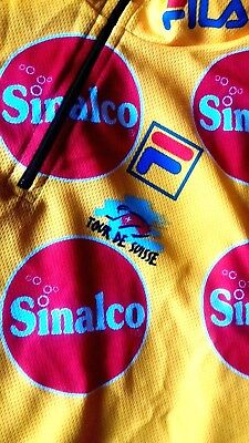 T-SHIRT bike 90's FILA (Tour de Suisse)  SINALCO TG.XL made in Italy  NEW ! RARE