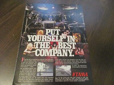 Tama Drums - Randy Castillo Mick Brown Vinnie Appice  1987 Magazine Print Ad