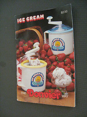 Donvier 1 Qt Ice Cream Maker Replacement Manual Instructions Recipes Booklet