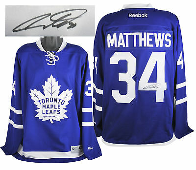 Maple Leafs Auston Matthews Authentic Signed Blue Reebok Jersey Fanatics 5cbc57b41