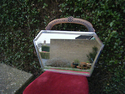Vintage Original Fabulous Metal Framed Art Deco Wall Mirror
