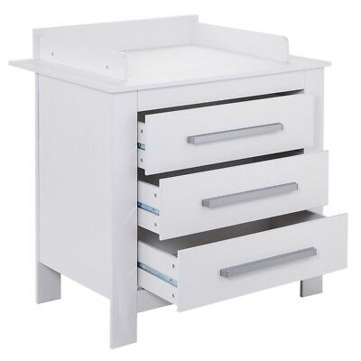 3-Drawer Changing Table Dresser Baby Room Nursery Furniture Diaper Station White