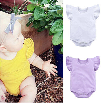 abd40ab37 NEWBORN INFANT BABY Girls Romper Bodysuit Jumpsuit Outfits Summer ...
