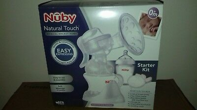 Nuby Natural Touch Comfort Manual Breast pump Starter Kit + Free Uber soother.