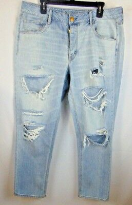 84054a5282a5fd American Eagle Outfitters TomGirl Women's Destroyed Jeans Sz14 LIGHT WASH  VGUC