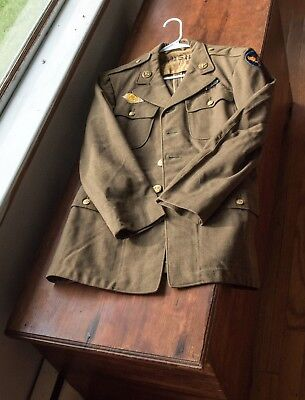 Ww2 Us Army Air Corps Uniform Jacket Lots Of Markings
