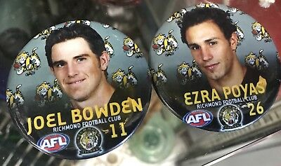 Vintage Joel Bowden Ezra Poyas Richmond Tigers Football Club Coat Badge AFL