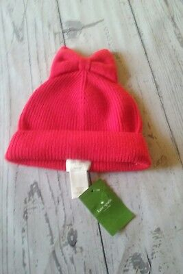 dff0a48e186 Kate Spade New York Solid Bow beanie Knit Hat NWT Persimmon grove (621) size