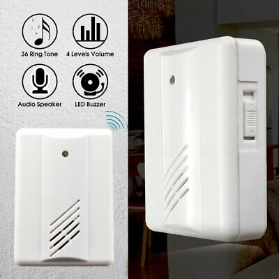 Restaurant Shop Entry Wireless Infrared Pir Motion Sensor Door Chime Bell Alarm