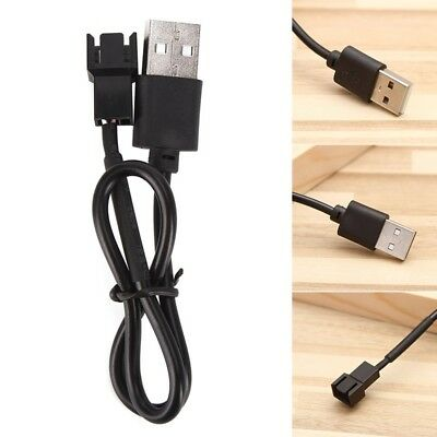 USB 2.0 A Male To 4 Pin 3 Pin Connector Adapter Cable For 5V Computer PC Fan Hot