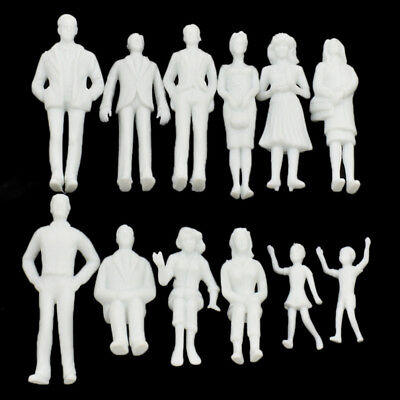 1 Set 1:25 Scale Model White Figures ABS Making Micro DIY Unpainted Accessories