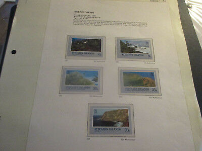 No--2--1981  PITCAIRN  ISLAND  -SCENIC  VIEWS--5  STAMPS---MNH