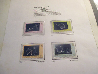 No--7-1984  PITCAIRN  ISLAND  -THE  SKY  AT NIGHT--4  STAMPS ---MNH