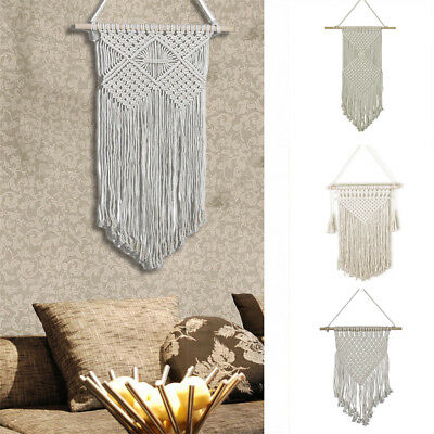 Handmade Macrame Wall Hanging Tapestry Boho Cotton Rope Bohemian Home Room Decor